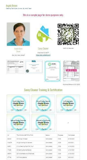 Verification Sample Page